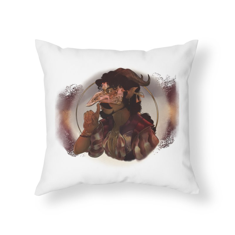 Mischievous Intentions Home Throw Pillow by Raining-Static Art