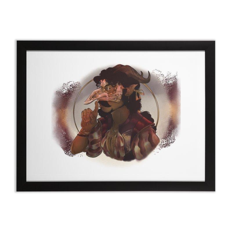 Mischievous Intentions Home Framed Fine Art Print by Raining-Static Art