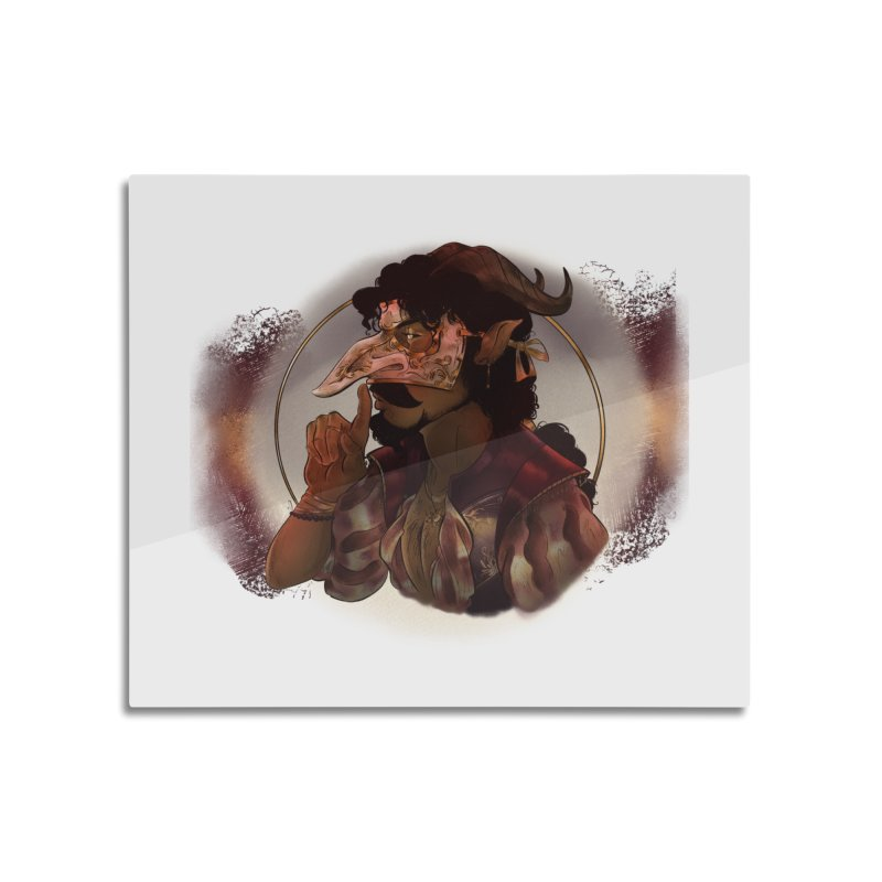 Mischievous Intentions Home Mounted Aluminum Print by Raining-Static Art