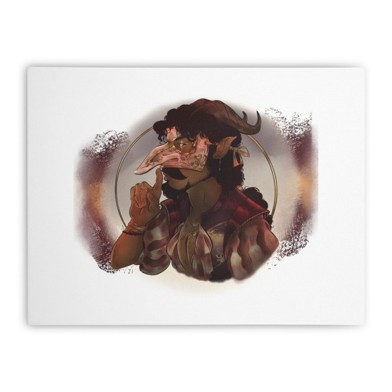 Mischievous Intentions Home Stretched Canvas by Raining-Static Art