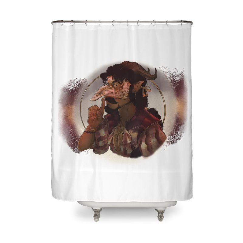 Mischievous Intentions Home Shower Curtain by Raining-Static Art