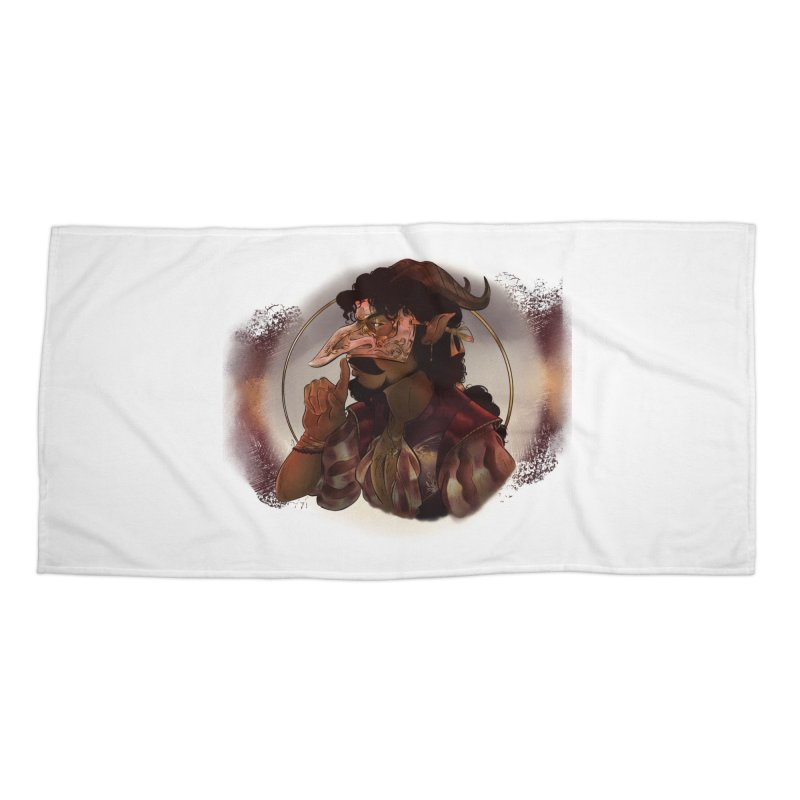 Mischievous Intentions Accessories Beach Towel by Raining-Static Art