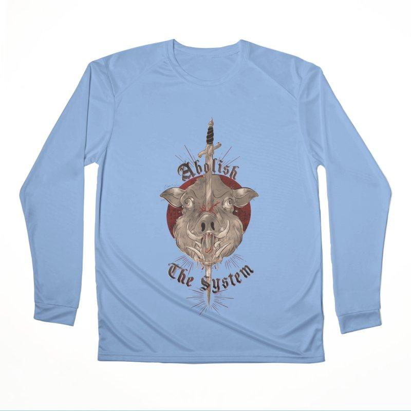 Abolish the System Men's Longsleeve T-Shirt by Raining-Static Art