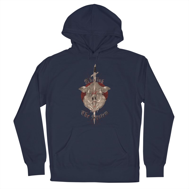 Abolish the System Men's Pullover Hoody by Raining-Static Art