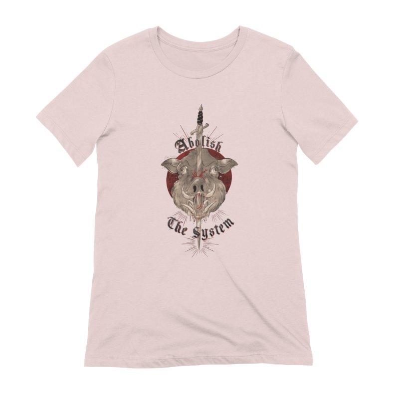 Abolish the System Women's T-Shirt by Raining-Static Art