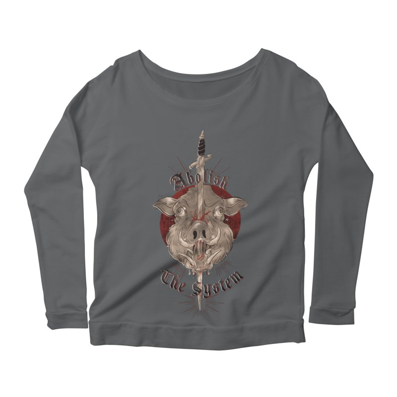 Abolish the System Women's Longsleeve T-Shirt by Raining-Static Art