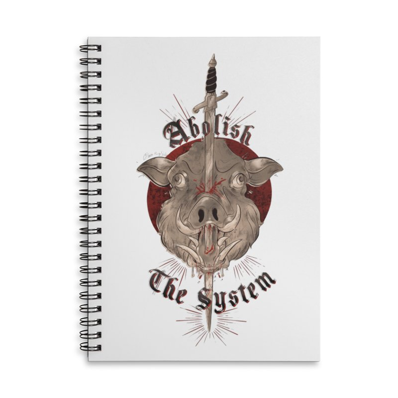 Abolish the System Accessories Notebook by Raining-Static Art