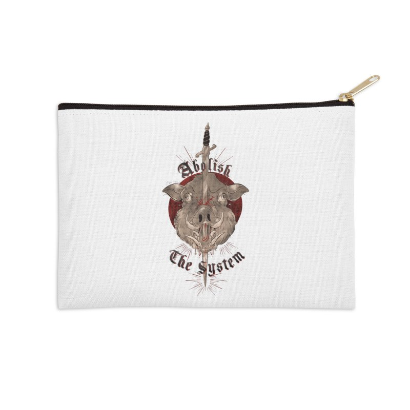 Abolish the System Accessories Zip Pouch by Raining-Static Art