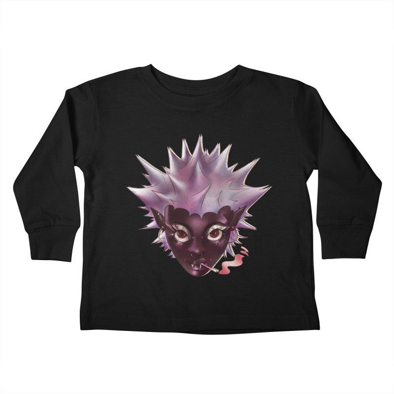 Janet the vampire Kids Toddler Longsleeve T-Shirt by Raining-Static Art