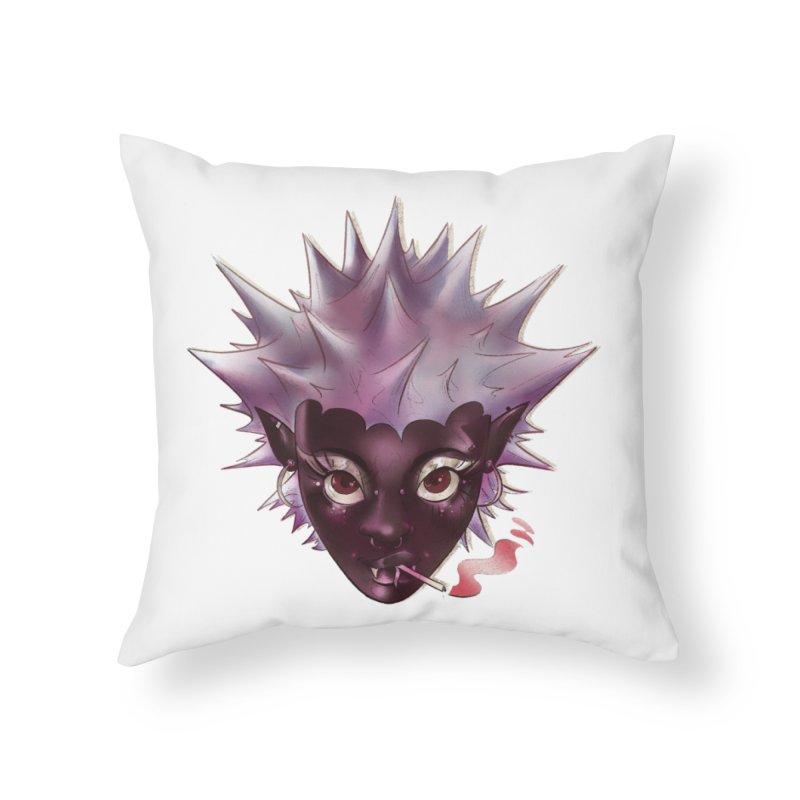 Janet the vampire Home Throw Pillow by Raining-Static Art