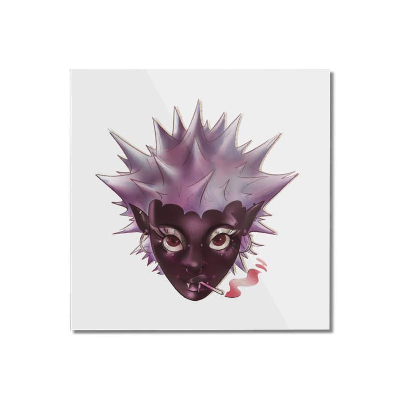 Janet the vampire Home Mounted Acrylic Print by Raining-Static Art