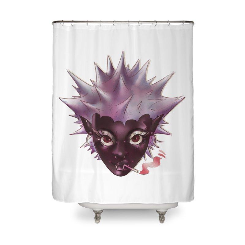 Janet the vampire Home Shower Curtain by Raining-Static Art