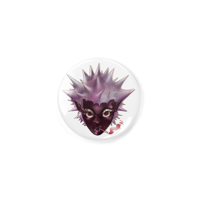 Janet the vampire Accessories Button by Raining-Static Art