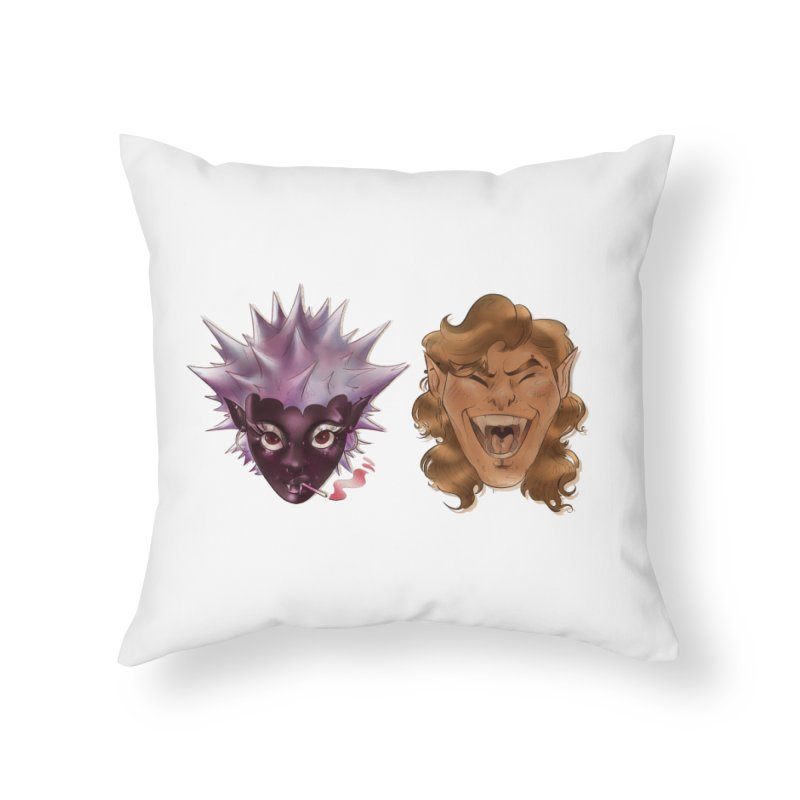 They Home Throw Pillow by Raining-Static Art