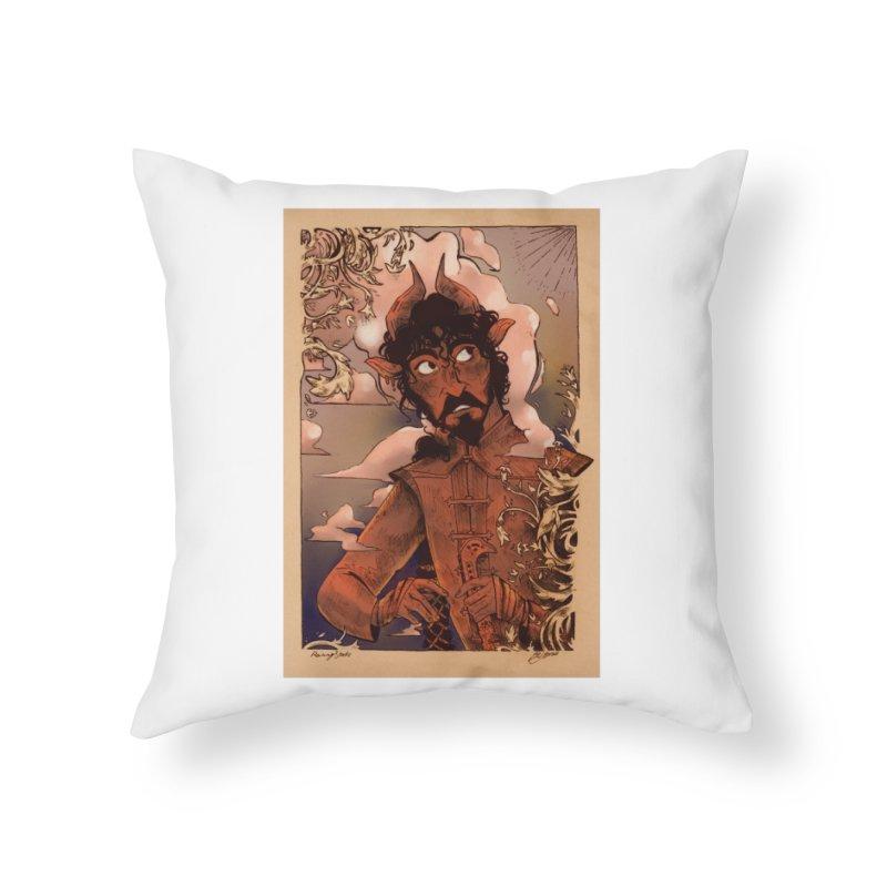 Fear Home Throw Pillow by Raining-Static Art