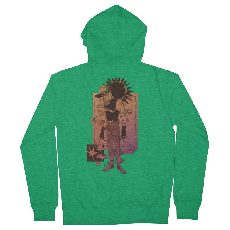 Fell in love with a rider Men's Zip-Up Hoody by Raining-Static Art