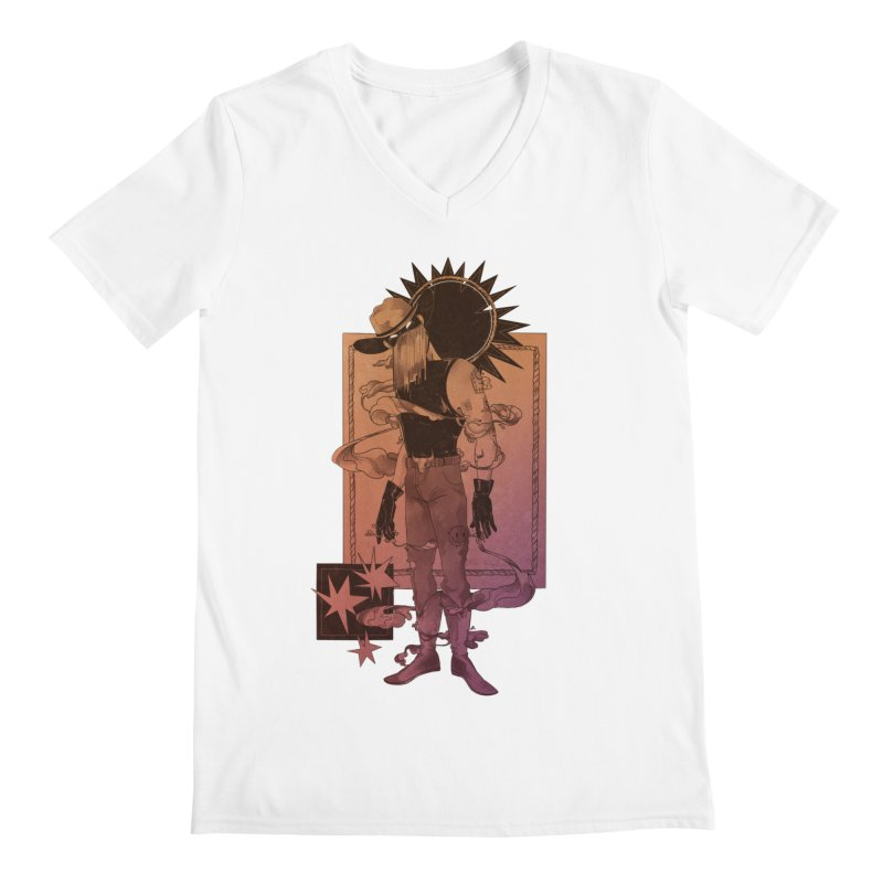 Fell in love with a rider Men's V-Neck by Raining-Static Art