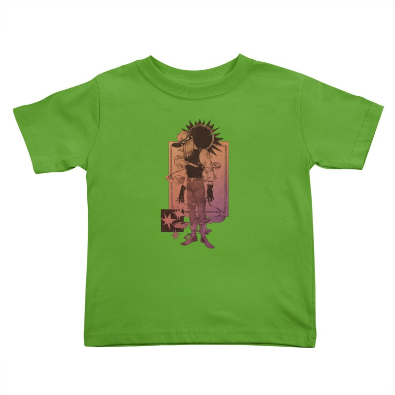 Fell in love with a rider Kids Toddler T-Shirt by Raining-Static Art