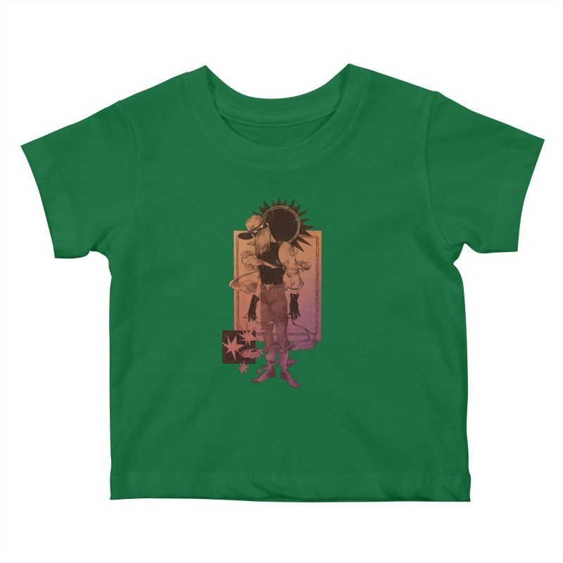 Fell in love with a rider Kids Baby T-Shirt by Raining-Static Art