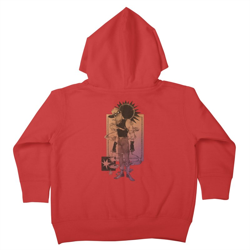 Fell in love with a rider Kids Toddler Zip-Up Hoody by Raining-Static Art