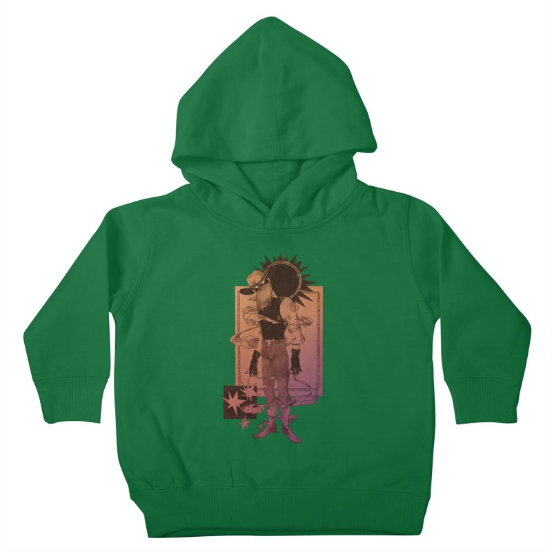 Fell in love with a rider Kids Toddler Pullover Hoody by Raining-Static Art