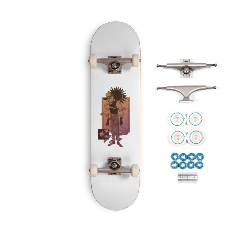Fell in love with a rider Accessories Skateboard by Raining-Static Art