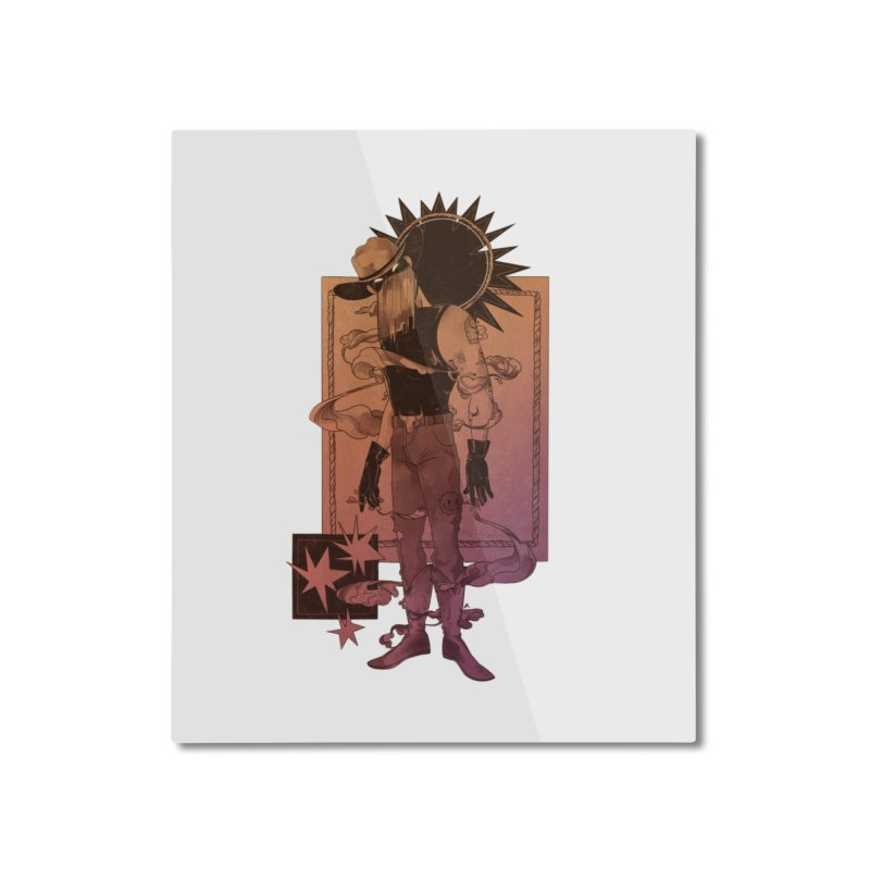 Fell in love with a rider Home Mounted Aluminum Print by Raining-Static Art