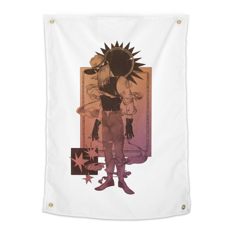 Fell in love with a rider Home Tapestry by Raining-Static Art