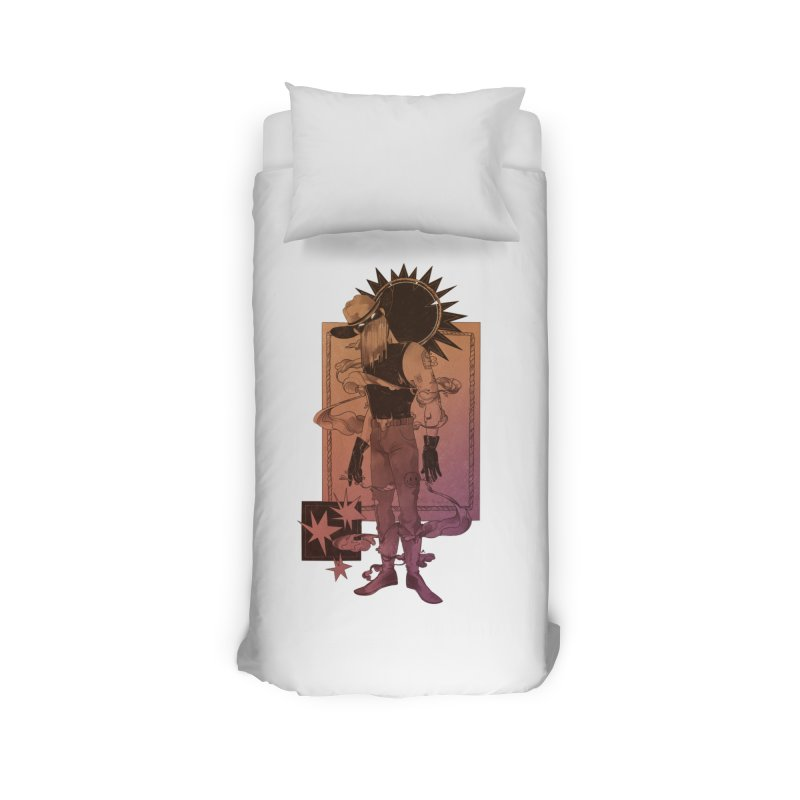 Fell in love with a rider Home Duvet by Raining-Static Art