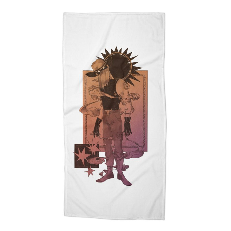 Fell in love with a rider Accessories Beach Towel by Raining-Static Art