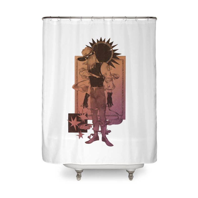 Fell in love with a rider Home Shower Curtain by Raining-Static Art