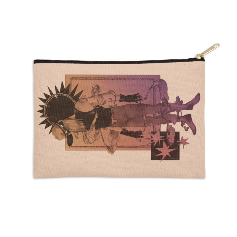 Fell in love with a rider Accessories Zip Pouch by Raining-Static Art