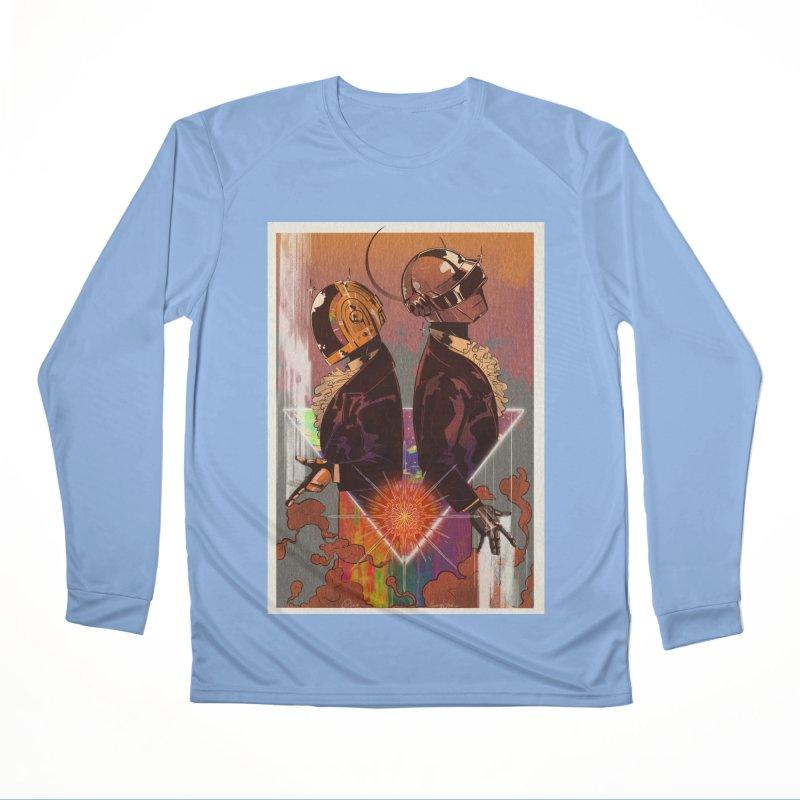 Daft Punk Men's Longsleeve T-Shirt by Raining-Static Art