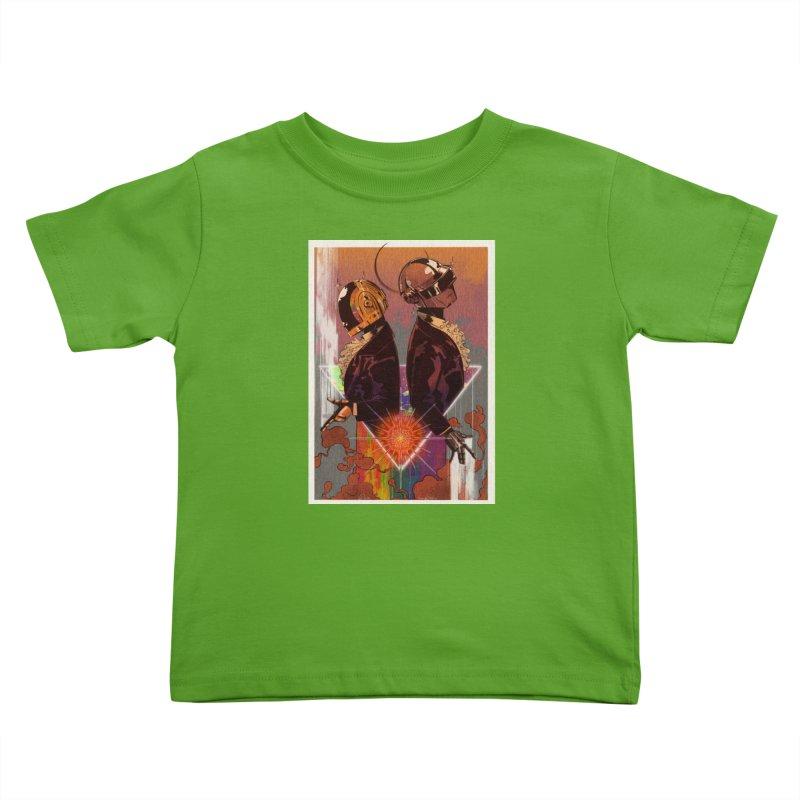 Daft Punk Kids Toddler T-Shirt by Raining-Static Art