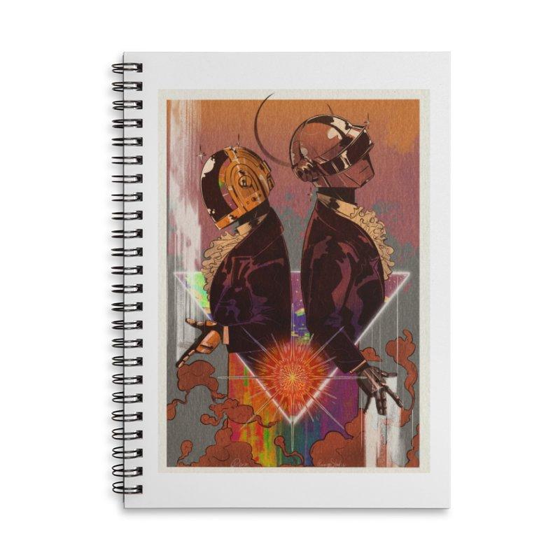 Daft Punk Accessories Notebook by Raining-Static Art