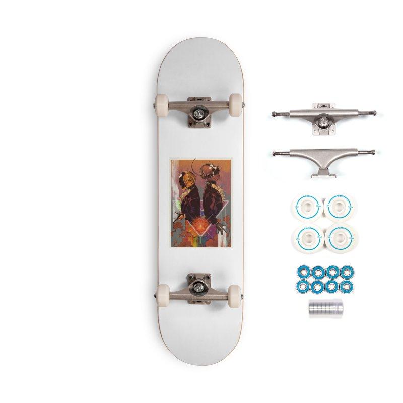 Daft Punk Accessories Skateboard by Raining-Static Art