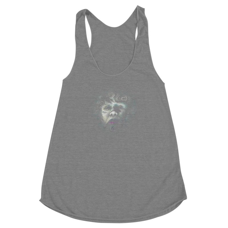 The Beast Women's Racerback Triblend Tank by rainvelle01's Artist Shop