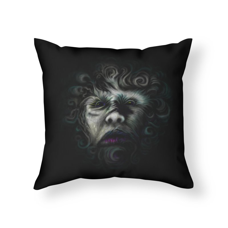 The Beast Home Throw Pillow by rainvelle01's Artist Shop