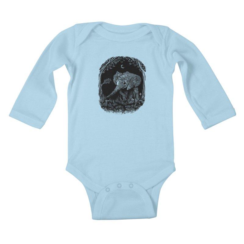 Night Stroller Kids Baby Longsleeve Bodysuit by rainvelle01's Artist Shop