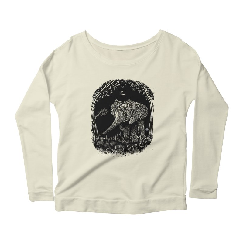 Night Stroller Women's Longsleeve Scoopneck  by rainvelle01's Artist Shop