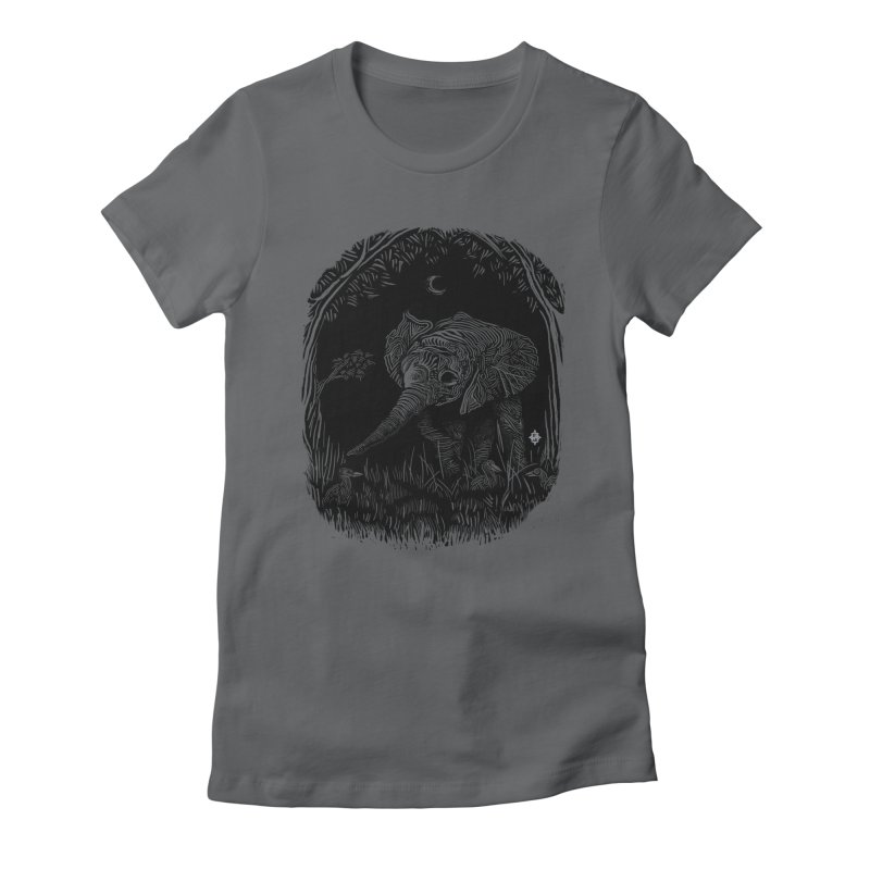 Night Stroller Women's Fitted T-Shirt by rainvelle01's Artist Shop