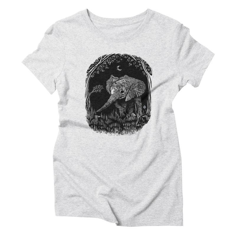 Night Stroller Women's Triblend T-Shirt by rainvelle01's Artist Shop
