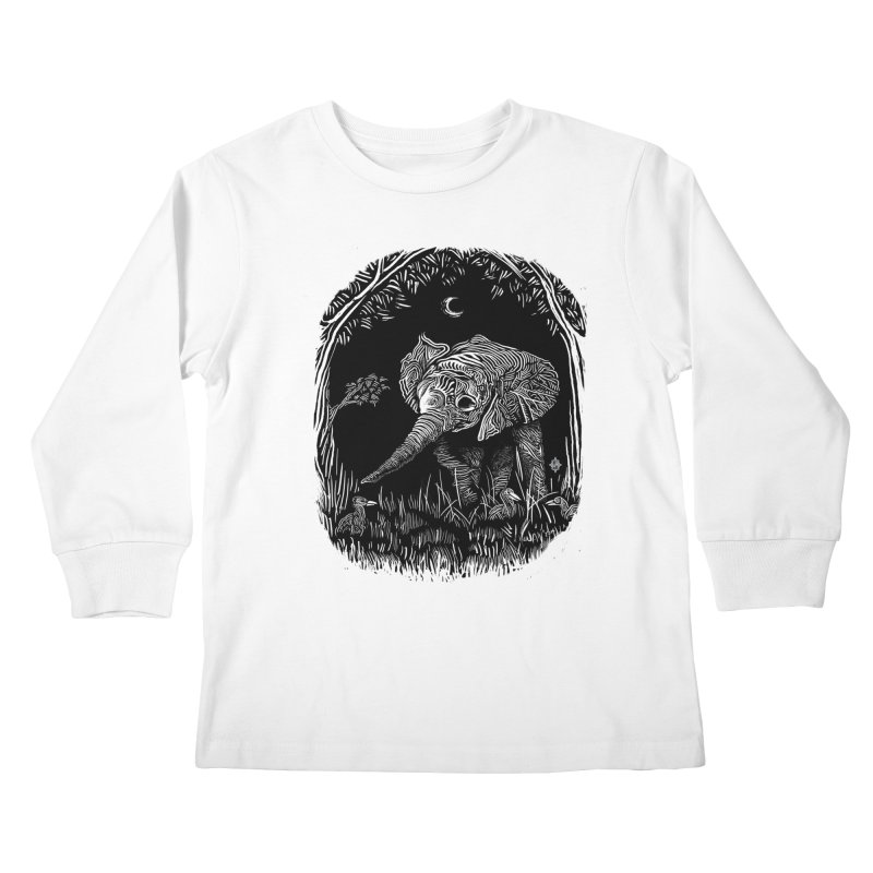 Night Stroller Kids Longsleeve T-Shirt by rainvelle01's Artist Shop