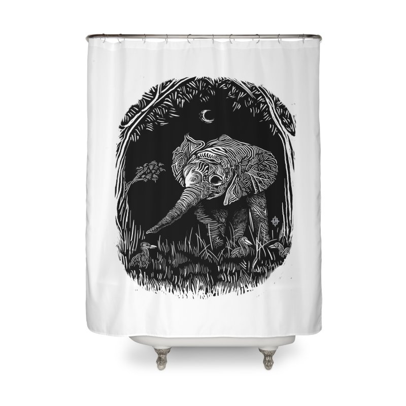 Night Stroller Home Shower Curtain by rainvelle01's Artist Shop