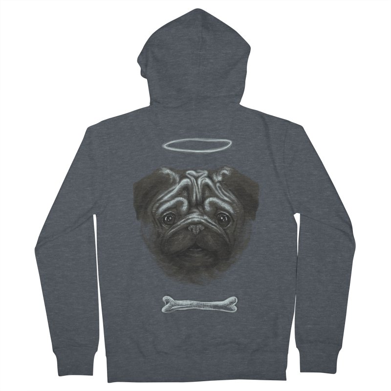 A Pug's Life Men's Zip-Up Hoody by rainvelle01's Artist Shop