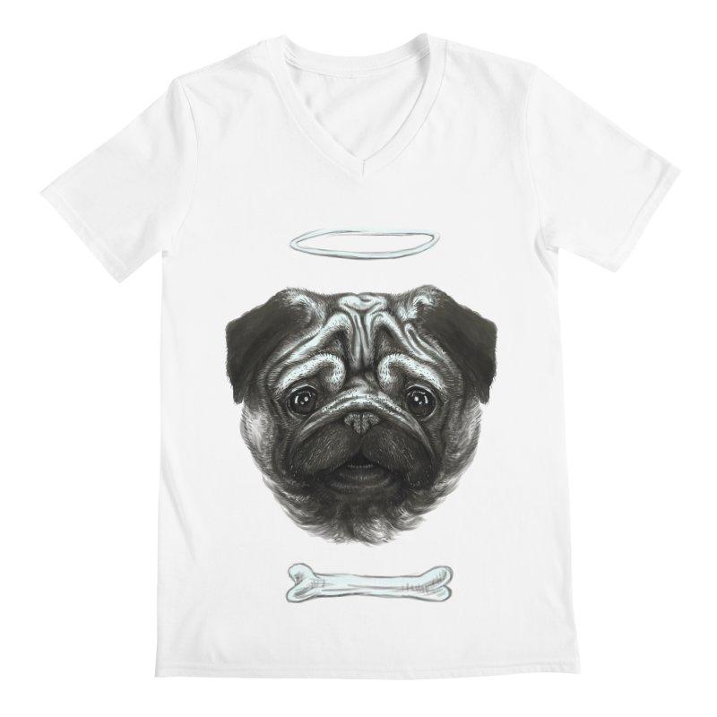 A Pug's Life Men's V-Neck by rainvelle01's Artist Shop