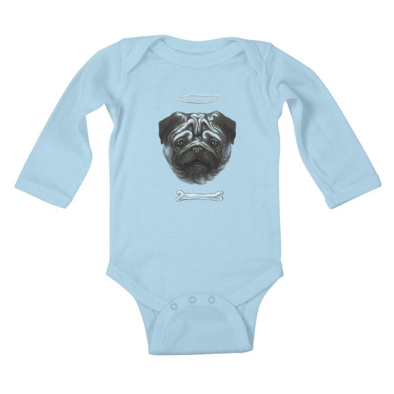 A Pug's Life Kids Baby Longsleeve Bodysuit by rainvelle01's Artist Shop