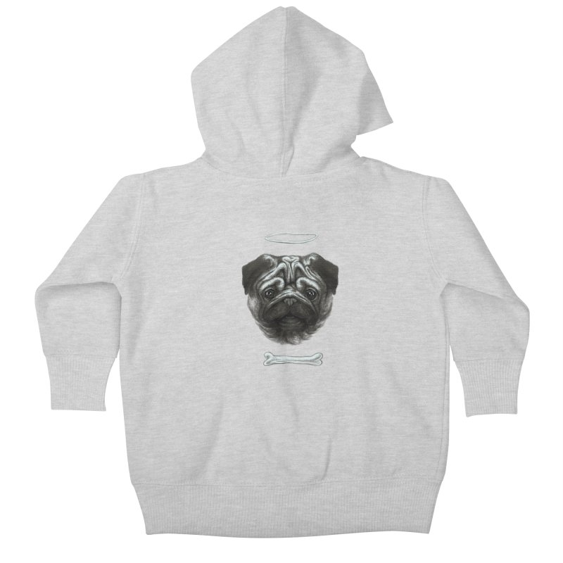 A Pug's Life Kids Baby Zip-Up Hoody by rainvelle01's Artist Shop