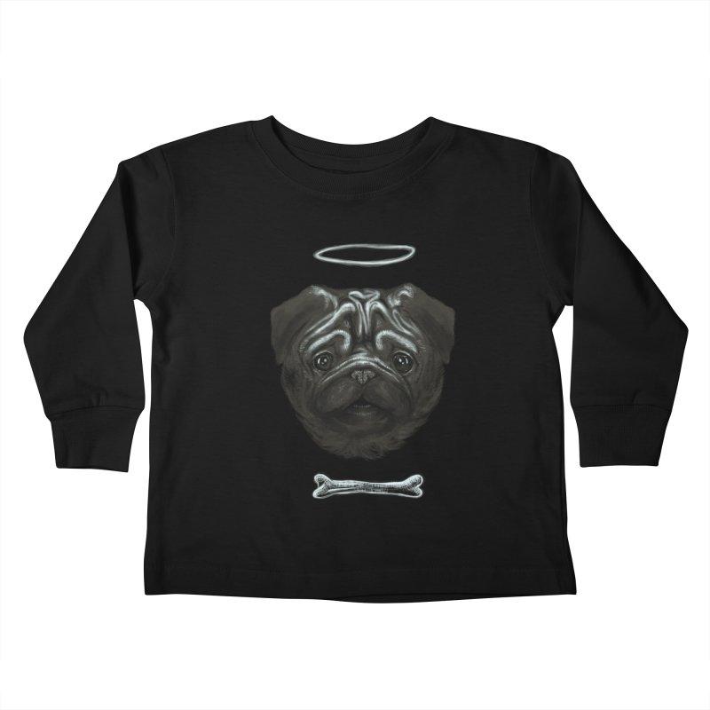 A Pug's Life Kids Toddler Longsleeve T-Shirt by rainvelle01's Artist Shop