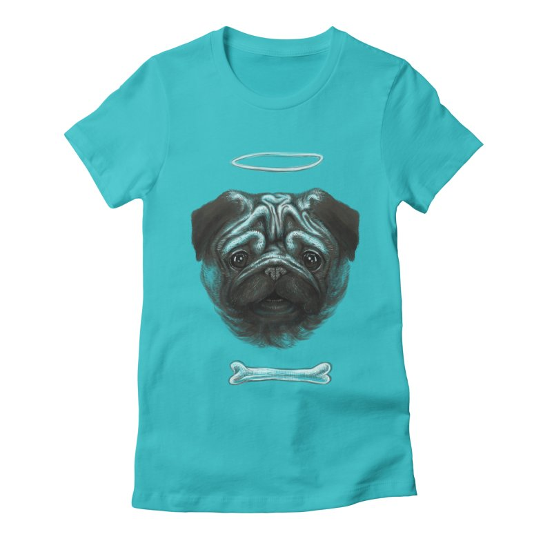 A Pug's Life Women's Fitted T-Shirt by rainvelle01's Artist Shop